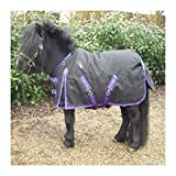DWJ Carpet Troy Troy est léger et Heavyv 600d imperméable et Respirant Oxford Doublure Doublure Horse Couverture de Cheval Pony  (Color : Purple)