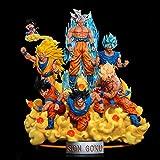 Dragon Ball: 1/7 Scala Figlio Goku Figura con Sei Forme Sette Palline Luminose Dragon Balls Bianco Dio Forma Effetti Speciali Luminosi e Base Luminosa