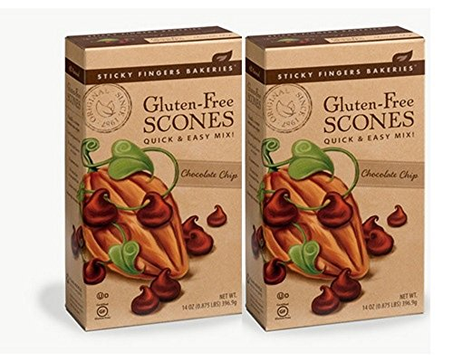 Sticky Fingers Premium Gluten Free Scone Mix (2-Pack) (Chocolate Chip)