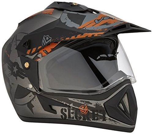 Vega Off Road Secret Full Face Helmet (Dull Anthra Black, M)