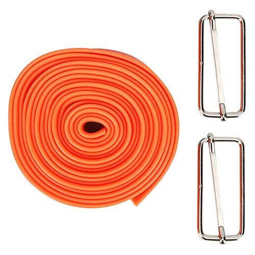 WLH 5 cm 2,5m Elastische Spanngurt Stretchresistent Kraft Trainingsgurt Mit Schnallen Für Frauen Mädchen Orange