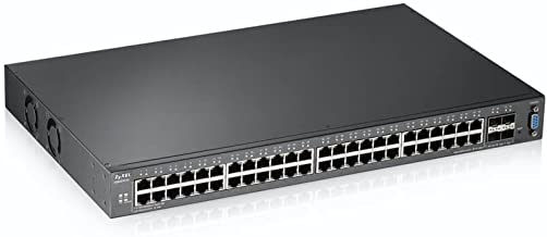 Zyxel 48 Port Gigabit Ethernet L2 Managed Switch with 4 10G SFP+ Ports (XGS2210-52)