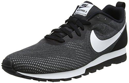 Nike Herren MD Runner 2 Eng Sneaker, Grau (Black/White/Gunsmoke 004), 43 EU
