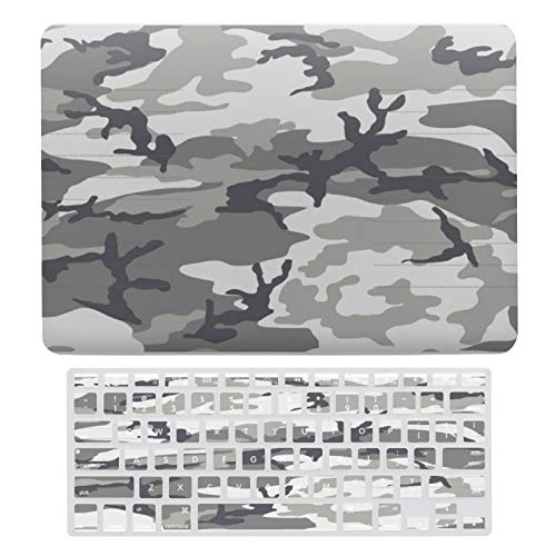 MacBook Pro 13 Inch Case A1706, A198, A2159, Plastic Hard Shell Case & Keyboard Cover Compatible with MacBook New Pro 13 Touch 13 Inch, Urban Camo Pattern Laptop Protective Shell Set