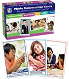 Key Education Photo Conversation Cards— Grades K-5 Social, Emotional, Behavioral, Communication Skills Flashcards For Children With Autism and Asperger's (90 pc), 8.5
