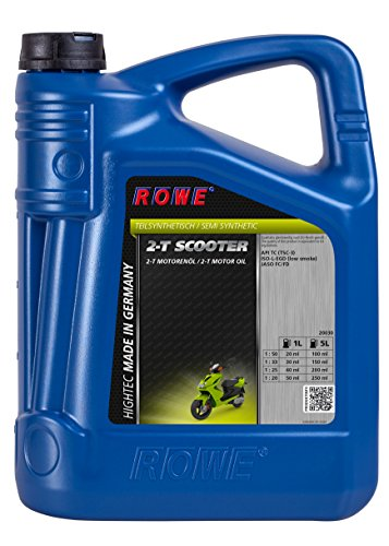 ROWE Hightec 2-T Scooter Motorenöl, 2-Takt, teilsynthetisch, für Roller/Scooter | Made in Germany