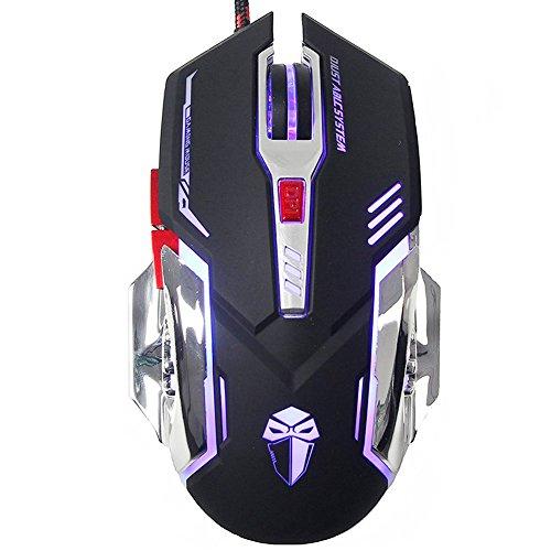 Granvela X5ergonomico Wired 3200DPI Gaming Mouse con 4pulsanti dpi regolabile e 6per PC, laptop, Apple MacBook