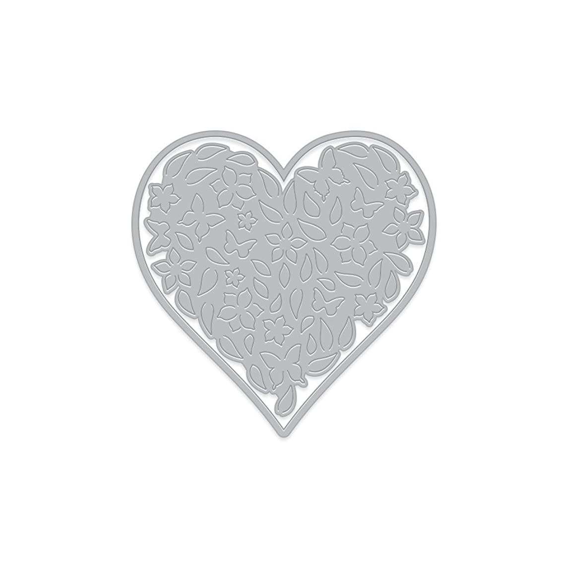 Hero Arts DI441 Paper Layering Die, Floral Heart with Frame