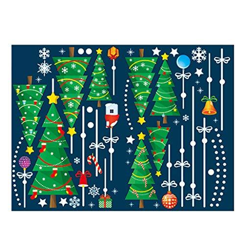 JHD Frohe Weihnachten Wandaufkleber Fenster Glas Festival Wandtattoos Santa Murals Neujahr Weihnachtsdekorationen für Wohnkultur