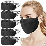 JUSHINI 30 Stück Maske Schutzmaske Schwarz, Fischform Masken Mundschutz Baumwolle Mund Und Nasenschutz Erwachsene Gesichtsmaske Mundschutz Maske Stoff Atmungsaktiv Gesichtsschutz für Damen Herren