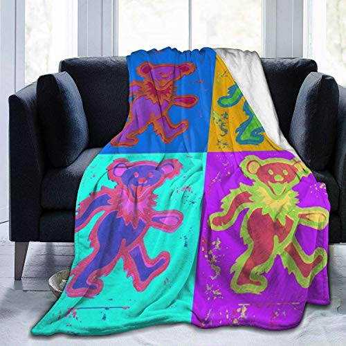 Hdadwy Manta de Microfibra ultrasuave Grate-Ful Music Dead Throw Blanket Mantas cálidas para sofá de 50 'X40'