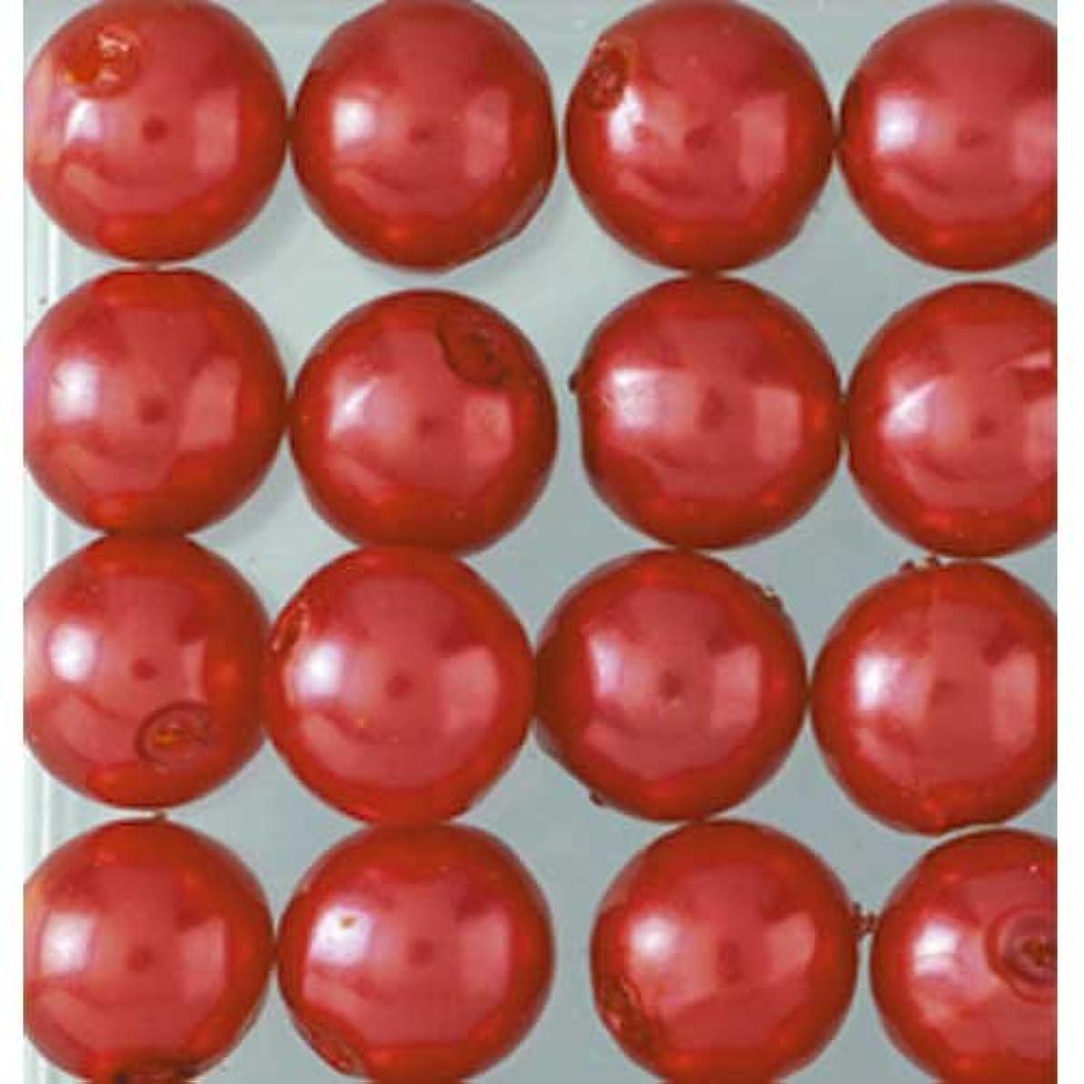 Efco Wax Beads, Plastic, Red, 4 mm Diameter, 125-Piece