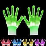 VICSPORT LED Gloves 12 Color Changeable Lights Led Skeleton Gloves Light Up Shows Dance Party Costume