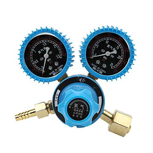 Regulador nitrógeno, manómetro cilindro nitrógeno a prueba golpes rosca entrada G5 / 8-14 y manómetro regulador soldadura con rosca salida M16 * 1.5