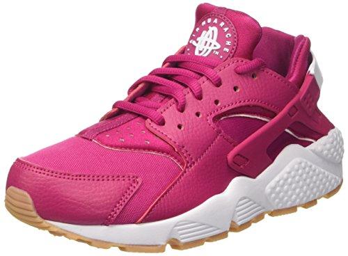 Nike Wmns Air Huarache Run, Scarpe da Ginnastica Basse Donna, Rosso (Sport Fuchsia/White/Gum Yellow), 40 EU