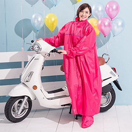 Vestes anti-pluie QFF Adult Raincoat Poncho Fashion Leisure Long Section Windbreaker Hommes et Femmes Ride Raincoat (Couleur : Peach, Taille : XXXL)