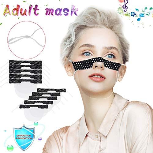 eiuEQIU Care Gesichtsschutz aus Kunststoff | Face Shield in Transparent | Universales Gesichtsvisier für Kind und Erwachsene | Visier zum Schutz vor Flüssigkeiten