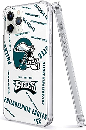 Football Fans Crystal Clear Case for i_Phone 12 pro max(6.7'), Cute Design with 4 Corners Shockproof Protection Soft TPU Bumper and Anti-Scratch PC Back Protective Cover Cases for Men and Women