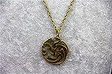 Vintage Game of Thrones House Targaryen Wappen Kette messing antik