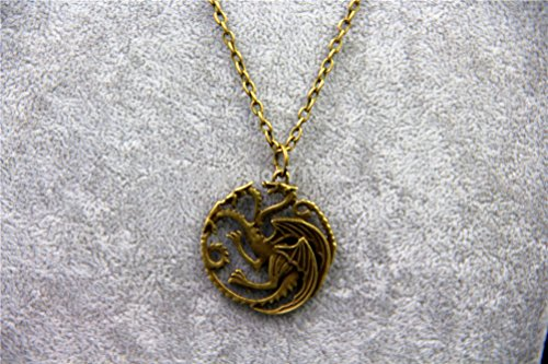 Vintage Game of Thrones House Targaryen Wappen Kette messing antik