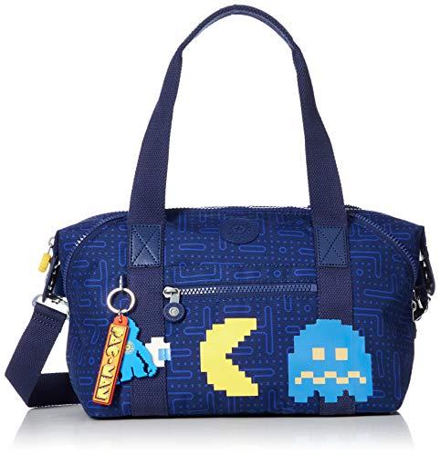 Kipling Damen ART MINI Stofftasche, Pac Man Good (Azul), S