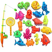 Daeum Creative Baby Bathing Toy 22-piece Magnetic Fishing Toy Set Bath Toys High Quality Exquisite