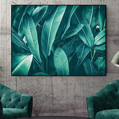 NIMCG Wandkunst drucke Leinwand Malerei grüne Pflanze Bilder wohnkultur auf leinwand Dekoration das gemälde an der Wand Poster 60x90 cm (Kein Rahmen)