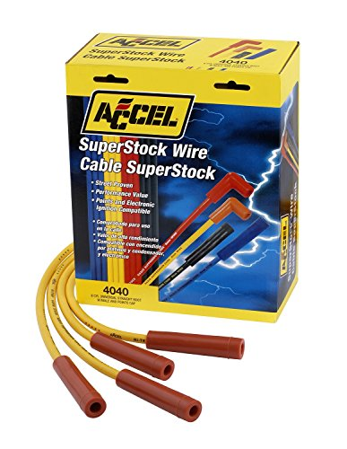 ACCEL 4040 Spark Plug Wire Set 8mm SUPER STOCK GRAPHITE UNI, Yellow