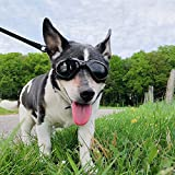 PEDOMUS Dog Goggles Dog Sunglasses Adjustable Strap for UV Sunglasses Waterproof Protection for Dog Black