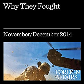 Why They Fought     How War Made the State and the State Made Peace              De :                                                                                                                                 Michael Mandelbaum                               Lu par :                                                                                                                                 Kevin Stillwell                      Durée : 16 min     Pas de notations     Global 0,0