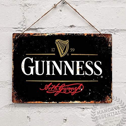 SIGNCHAT Blechschild Guinness Stout Beer Vintage Blechschild Blechschild Wandschild Blechschild 20x30,5 cm