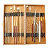 Amatolo Multifunction Ear Pick Cleaning Set Ear Wax Removal Cleaner ,Beauty Tools Kit (19pcs a Set with Wooden Box)