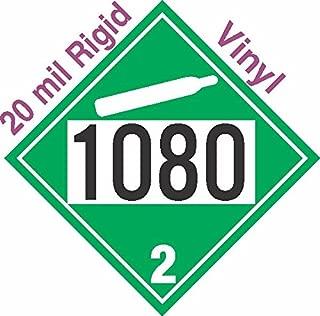 GC Labels-R305c1080, Non-Flammable Gas Class 2.2 UN1080 20mil Rigid Vinyl DOT Placard, each Placard