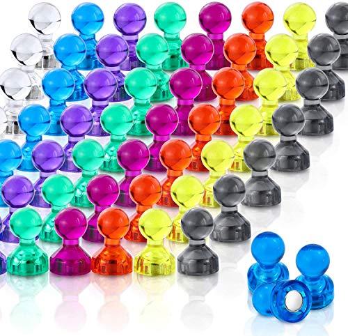 60 Stück Mini Magnet für Magnettafel, Whiteboard Magnete, Kühlschrank, Kegelmagnete, Notenmagnete, Pinnwand Magnete (11 x 17 mm)