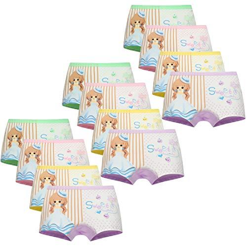 Usex Sense Usex Sense 12er Pack Mädchen Boxershorts Kinder Unterhosen Baumwolle Unterwäsche 2-11 Jahre(2-3 Jahre,1703S)