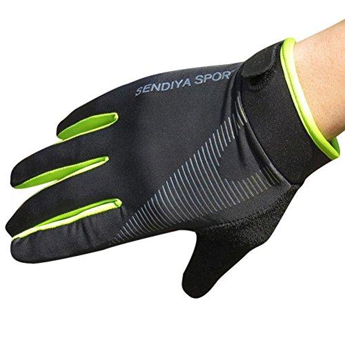 Teekit Para - Guanti da ciclismo con dita intere, per uomo, donna, MTB, traspiranti, estivi, taglia M, colore: Verde