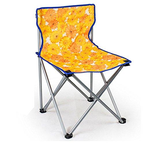 HM&DX Extérieure de chaises pliantes Portable Ultralight Chaises de camping Chaise de plage pliante Compact Tabouret Avec Badminton sac Jardin camping pêche randonnée picnic -Orange M