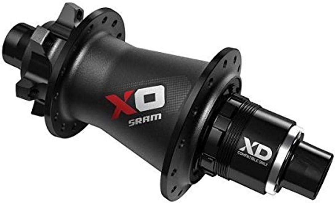 SRAM X0 Is-Disc Rear Q//R Hub 12X142mm 28 Hole Black//Silver
