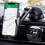 【4 in 1 】Car Phone Holder, Anwas【No Block Your View】Dashboard Air Vent Windshield Phone Mount【Shock Absorbing】Fit with iPhone 12 11 Mini Pro Max XS XR X 8 Plus, One Plus, Samsung, Sony and All Phones