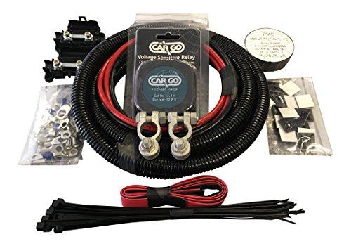 N&C Kit de relé de carga dividida de 10 m con 12 V 140 A VSR con cable de 16 mm 110 Amp