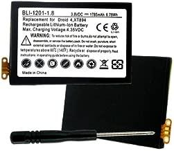 Empire quality replacement for Motorola EB41, SNN5905, SNN9505A, DROID 4, PHOTON Q 4G LTE, XT-894, XT-898, XT-897, 1785mAh, 3.8v, Li-ion, with installation tools.