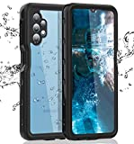 Samsung Galaxy A32 5G Waterproof Case with Built-in Screen Protector Dustproof Shockproof Drop Proof Case, Rugged Full Body Underwater Protective Cover for Samsung Galaxy A32 5G (Black)