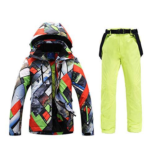 ZYJANO ski-pak Ski pak Heren Grote Maat Ski Kleding Winddicht Waterdichte Sneeuw Lichens Warm Dik Ademend Outdoor Snowboard Kleding