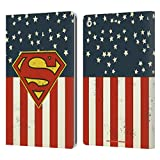 Head Case Designs Offizielle Superman DC Comics U.S. Fahne Logos Leder Brieftaschen Huelle kompatibel mit Apple iPad 10.2 (2019)