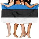 Tcerlcir Strandtuch Badetuch Saunatuch Duschtuch Ultra Leicht Handtuch Schnelltrocknend Saugfähiges Sporthandtuch Flagge von Estland 130X80cm