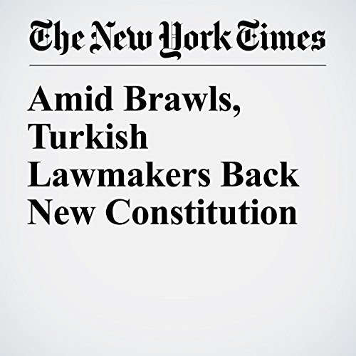 Amid Brawls, Turkish Lawmakers Back New Constitution copertina