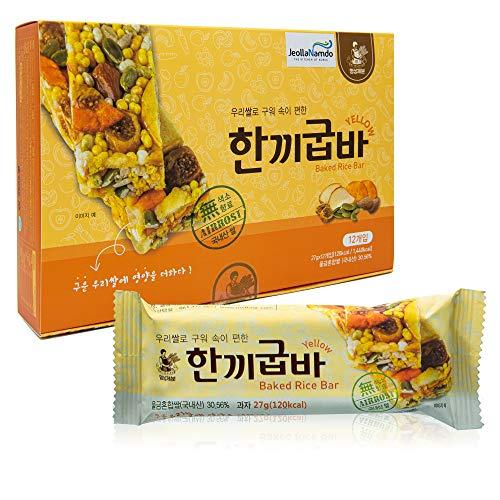 Baked Rice Snack Bar YELLOW [ Korean Snack ]...