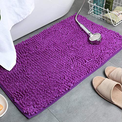 Floor mats, absorbent carpets, non-slip bathroom non-slip foot mats, plush carpets are easy to care, do not shed hair, and can be machine washed Fast Drying Shower Mat,E,50X80CM