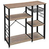 VASAGLE ALINRU Kitchen Baker's Rack, Coffee Bar, Microwave Oven Stand, Industrial, Weathered S
