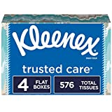 """Contains 4 rectangular tissue boxes (cartons) with 144 Kleenex Trusted Care Everyday tissues per box = 576 tissues total When your Kleenex product is listed as """"ships and sold by Amazon.com"""" you can buy with confidence. Kleenex cannot ensure the auth..."""